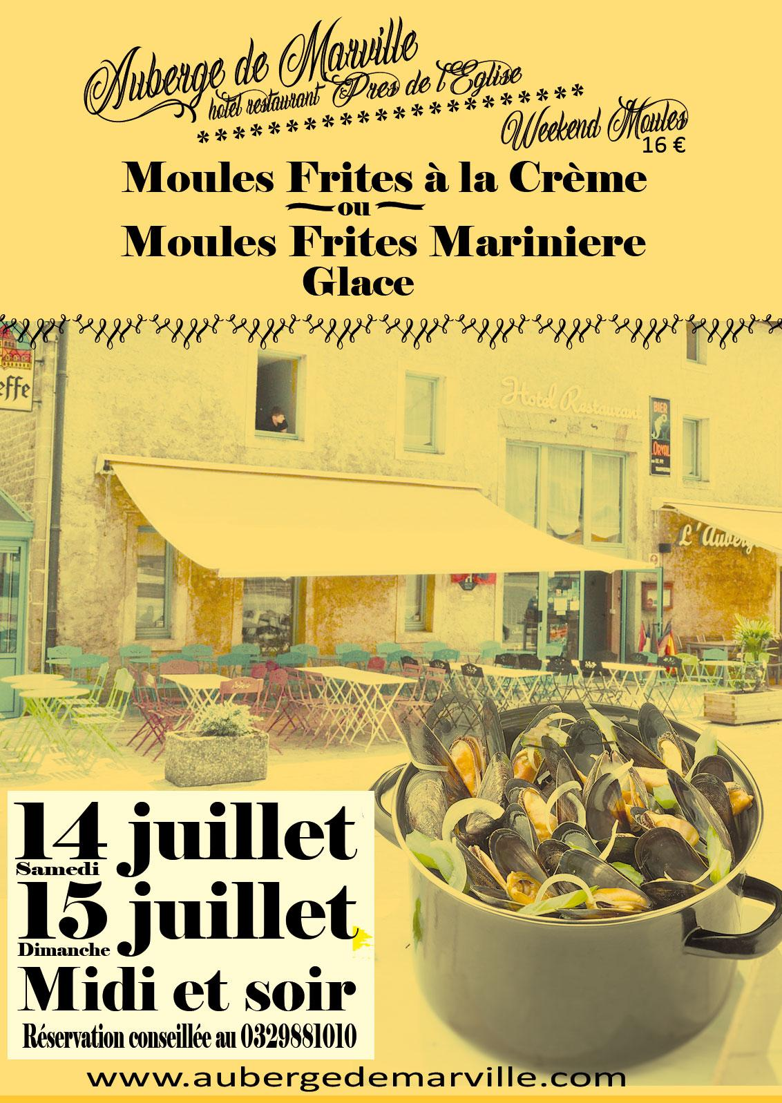 Week end Frites Moules 14 15 Juillet